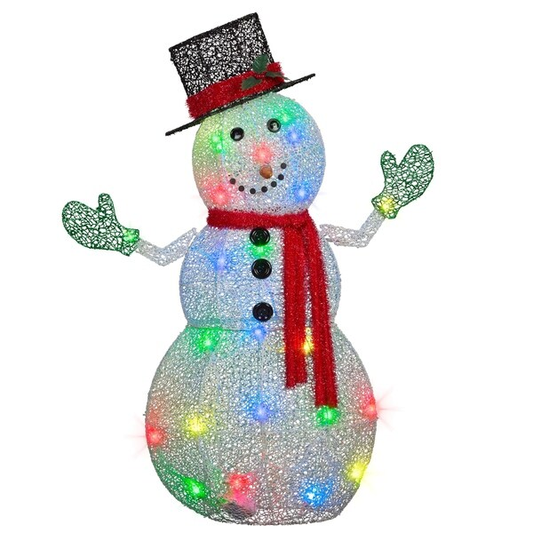 Shop 50 Quot Lightshow Crystal Swirl Tm Snowman Free Shipping Today Overstock 17652410