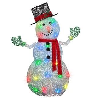 "50"" Lightshow Crystal Swirl(TM) Snowman"