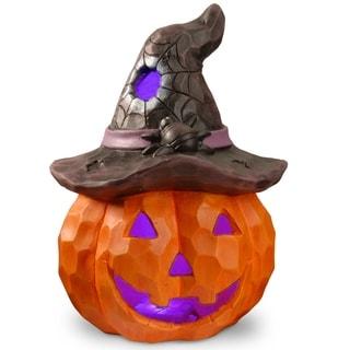 "14"" Lighted Halloween Jack-O-Lantern"