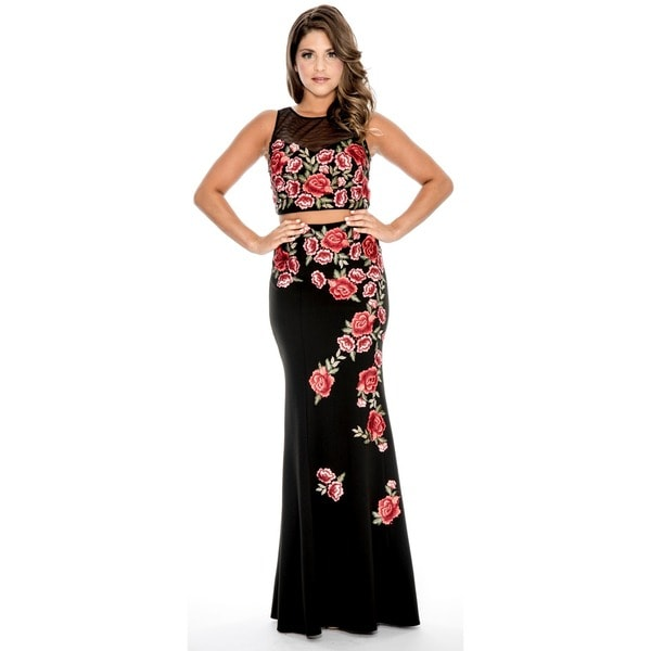 016551a439230 Decode 1.8 Floral Embroidered 2-piece Gown