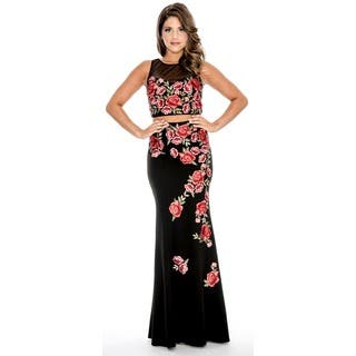 Decode 1.8 Floral Embroidered 2-piece Gown|https://ak1.ostkcdn.com/images/products/17652426/P23864196.jpg?impolicy=medium