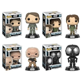 Funko POP! Star Wars Rouge One W2 Collectors Set: Galen Erso, Young Jyn Erso, Weeteef Cyubee, Death Star Droid