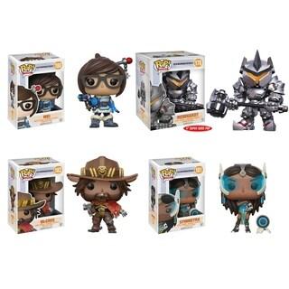 Funko POP! Games Overwatch Collectors Set; Mei, Reinhardt 6, McCree, Symmetra