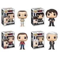 Funko POP! Television Stranger Things Collectors Set; Eleven w/ Hospital Gown, Jonathan w/ Camera, Nancy w/Gun, Brenner