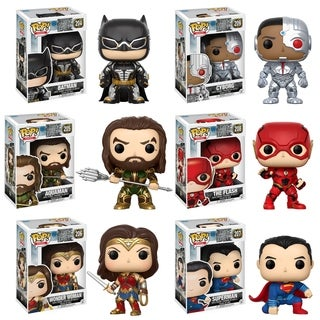 Funko POP! Movies DC Justice League Collectors Set; Batman, Aquaman, Cyborg, The Flash, Wonder Woman, Superman