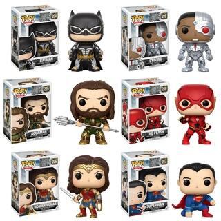 Funko POP! Movies DC Justice League Collectors Set; Batman, Aquaman, Cyborg, The Flash, Wonder Woman, Superman|https://ak1.ostkcdn.com/images/products/17652441/P23864209.jpg?impolicy=medium
