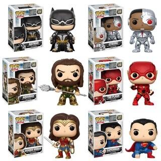 Funko POP! Movies DC Justice League Collectors Set; Batman, Aquaman, Cyborg, The Flash, Wonder Woman, Superman