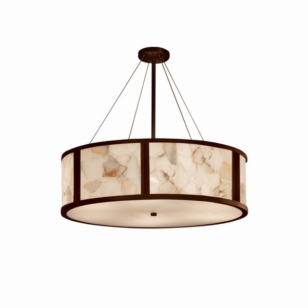 Justice Design Group Alabaster Rocks Tribeca 8-light Dark Bronze Pendant