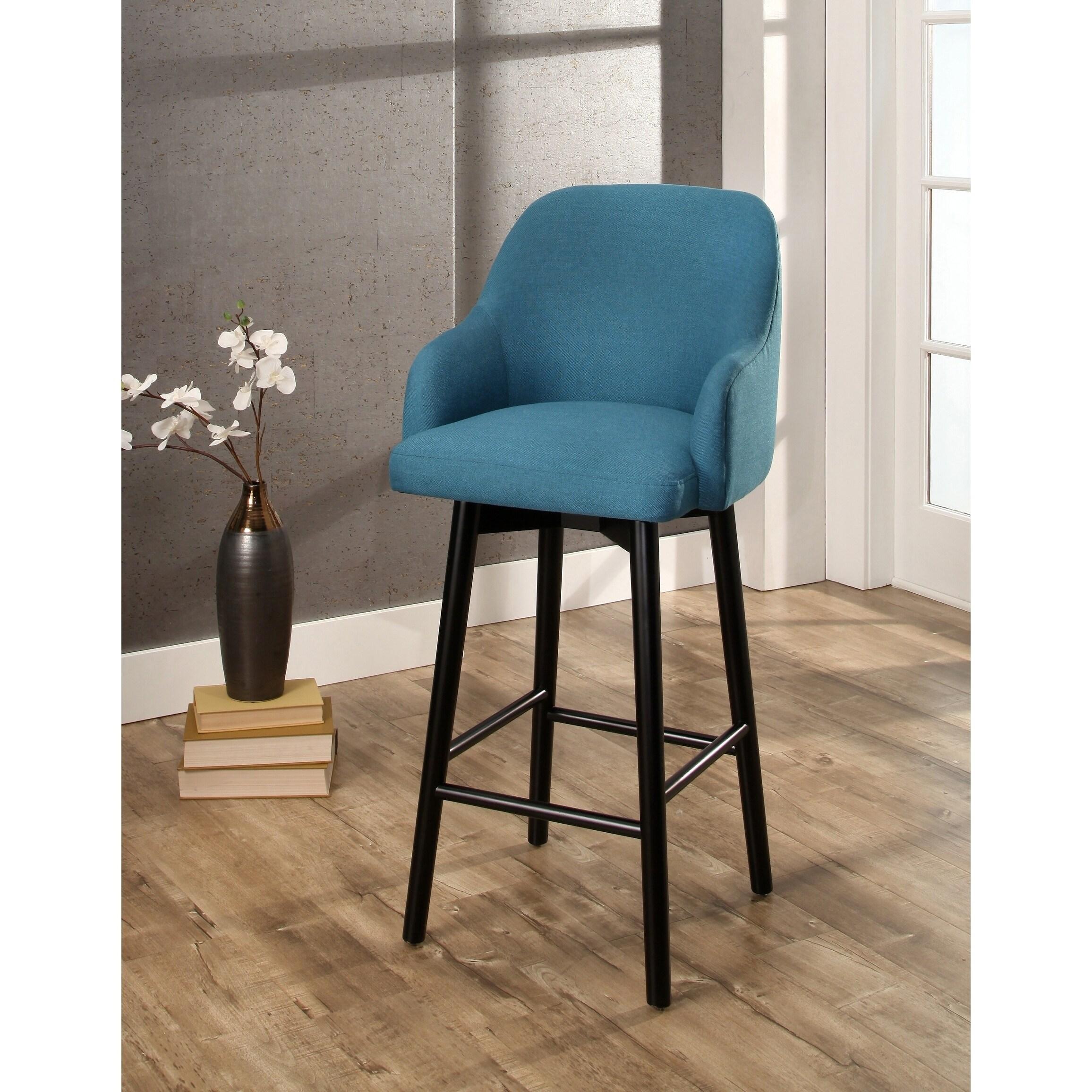 Abbyson abbott upholstered 32 inch bar stool
