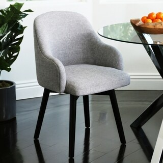 Abbyson Abbott Upholstered Swivel Dining Chair