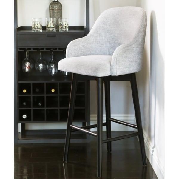 Shop Abbyson Abbott Upholstered 26 Inch Counter Stool