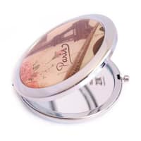 Chrome Paris Style 2x Compact Mirror (Pack of 3)