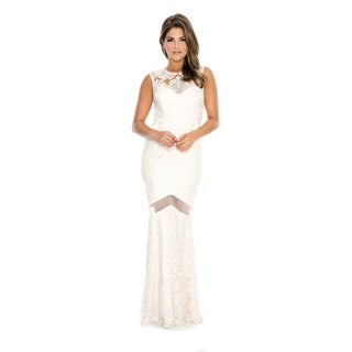 Decode 1.8 V-Shape Open Back Lace Trumpet Dress