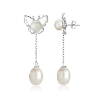 Pearlyta Sterling Silver Interchangeable Butterfly Earring