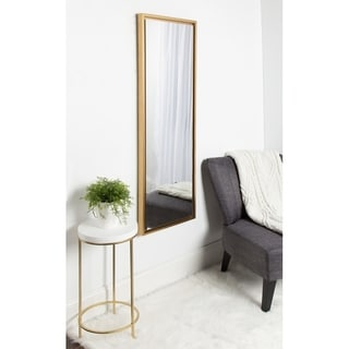 Kate and Laurel Evans Framed Wall Panel Mirror - 16x48