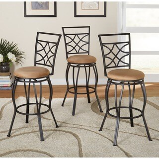 Simple Living Tipton Adjustable Height Swivel Stool Set (Set of 3)