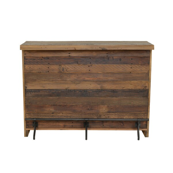 Matteo Natural Reclaimed Pine Bar by Kosas Home