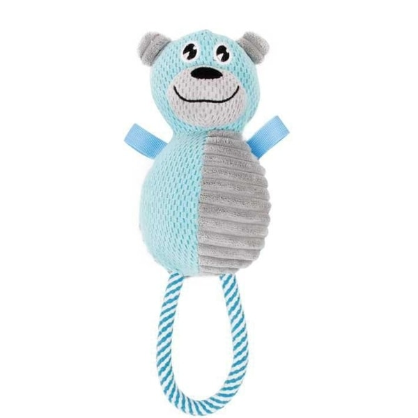 Dog Chewing On Rugs: Shop Pet Life Plush Huggabear Natural Jute And Squeak Chew