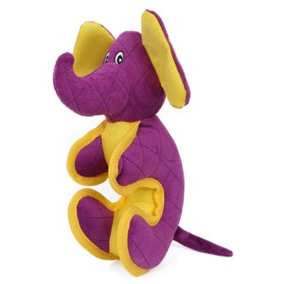 Pet Life Cartoon Funimal Plush Animal Squeak Chew Tug Dog Toy (Option: Purple)