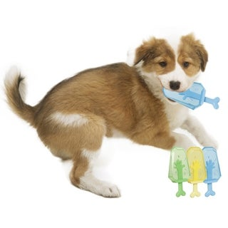 Pet Life Ices Cooling 'Lick And Gnaw' Water Fillable And Freezable Rubberized Dog Chew And Teether Toy