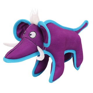 Pet Life Animal Dura-Chew Reinforce Stitched Durable Water Resistant Plush Chew Tugging Dog Toy (Option: Purple)