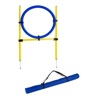 "26"" Diameter Dog Agility Jumping Training Hoop with Carry Bag By Trademark Innovations"