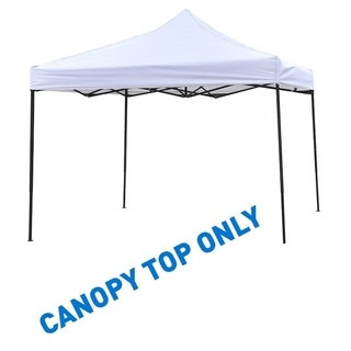 9.6' x 9.6' Square Replacement Canopy Gazebo Top Assorted Colors By Trademark Innovations (White)