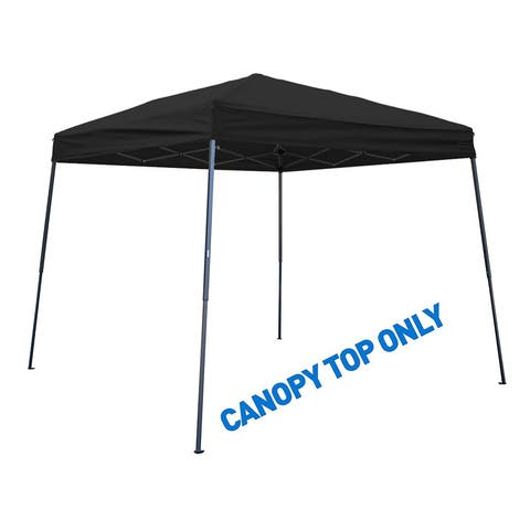 Square Replacement Canopy Gazebo Top for 10' Slant Leg Canopy - 8' x 8' - By Trademark Innovations (Black)