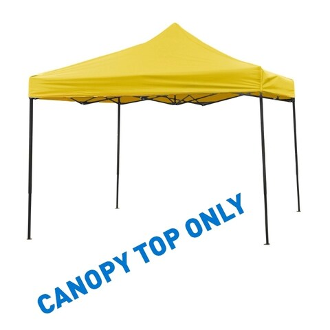 9.6' x 9.6' Square Replacement Canopy Gazebo Top Assorted Colors By Trademark Innovations (Yellow)