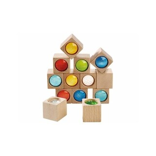 HABA Kaleidoscopic Building Blocks - 13 Piece Set with Colored Prisms