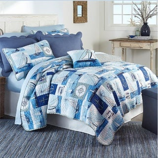 Boats on Sail 3-piece Quilt Set