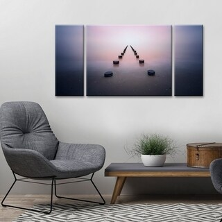 Ready2HangArt 'Alone in the Silence' Canvas Wall Decor Set - Pink