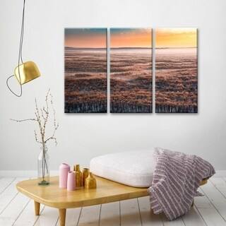 Ready2HangArt 'Dawn' Canvas Wall Decor Set - Orange