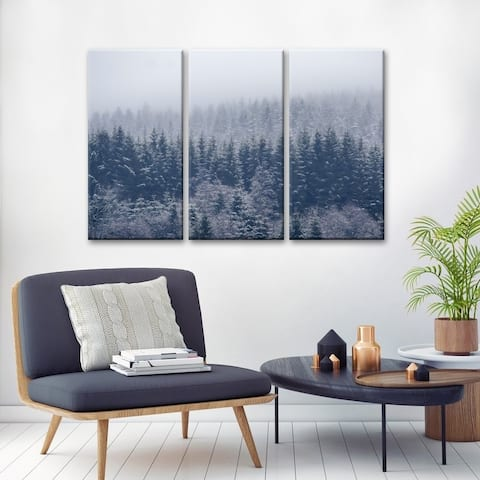 Ready2HangArt 'Frozen Trees' Canvas Wall Decor Set