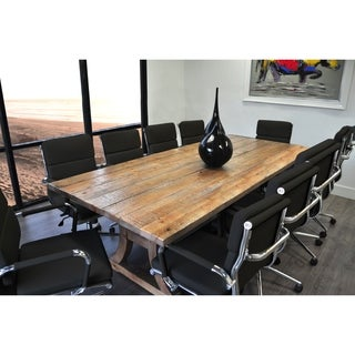 SOLIS Ligna Conference Set with Black Low Back Bonded Leather Chairs