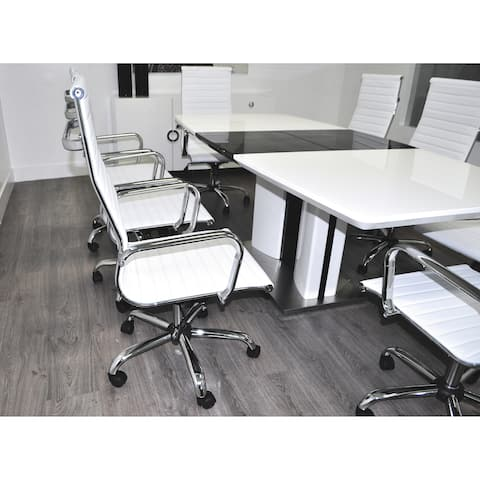 SOLIS Brillante Lacquered Conference Set with Bonded Leather Office Chairs