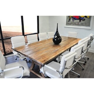SOLIS Ligna Conference Set with White Low Back Bonded Leather Chairs