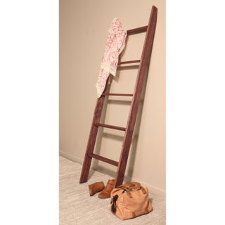 "BrandtWorks 72"" Handmade Lucus Ebony Stained Wooden Decorative Ladder"