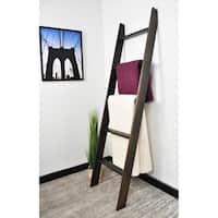 "Lucus Ebony 72"" Decorative Ladder"