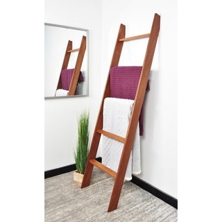"Lucus Chestnut 72"" Decorative Blanket Ladder"