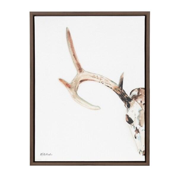 Shop Sylvie Deer Skull Framed Canvas Wall Art 18x24