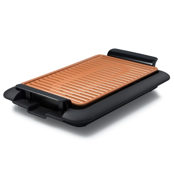 Gotham Steel Copper Non-stick Indoor Electric Smokeless Grill - Free ...