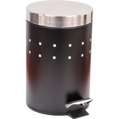 Evideco Round Metal bath Floor Step Trashcan Waste Bin