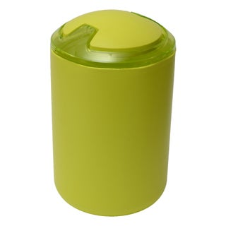 Evideco DESIGN Round bath Floor Trashcan Waste Bin Top Swing Lid (Option: Green - lime green)