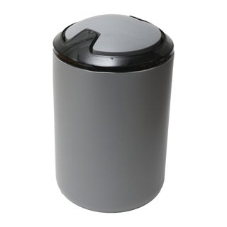Evideco DESIGN Round bath Floor Trashcan Waste Bin Top Swing Lid