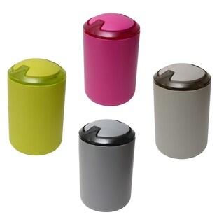 Evideco DESIGN Round bath Floor Trashcan Waste Bin Top Swing Lid