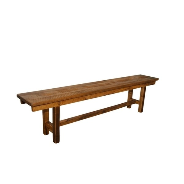 Shop Rustic Reclaimed Barn Wood 6 Foot Plank Bench Clear