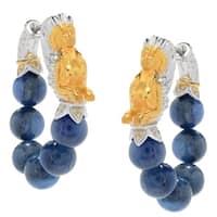 Michael Valitutti Palladium Silver Paris Kyanite Beaded Strand Hoop Earrings