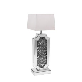 Mirrored Crystal Table Lamp with Shade