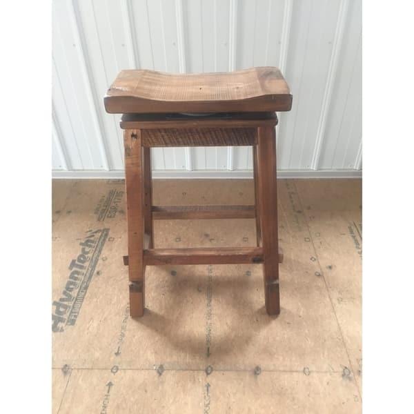 Pleasing Shop Reclaimed Barn Wood Bar Height Swivel Saddle Stool Theyellowbook Wood Chair Design Ideas Theyellowbookinfo